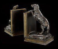 Bookends Dogs - Retriever on Books