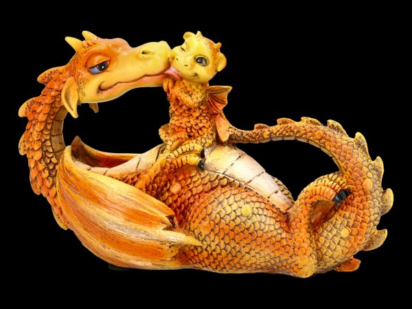 Drachen Figur - Sweetest Moment - orange