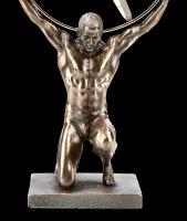 Kneeling Atlas Figurine with Globe