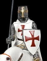 German Templar Knight Figurine on Horse