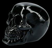 Totenkopf - glänzend schwarz