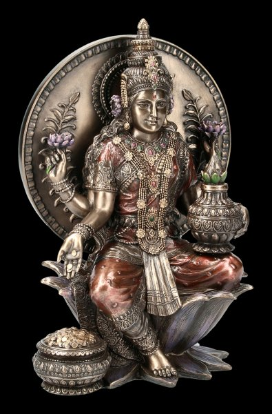 Hindu Goddesses - Lakshmi Figurine - bronze