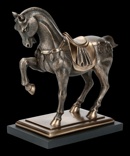 Horse Figurine - Decorated on Plinth