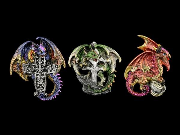 Dragon Fridge Magnet Set of 3 - Cold Kings