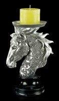 Pferde Kerzenhalter mit Ornamenten