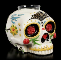 Totenkopf Teelichthalter - Day of the Dead