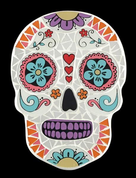 Mosaik Totenkopf Wandspiegel - Candy Skull