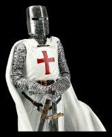 Knight Templar Figurine with White Cape