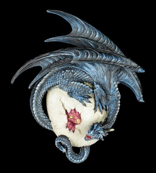 Wandrelief - Drache schlüpft aus dem Ei