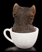 Dog Figurine - Yorkie Teacup Pup