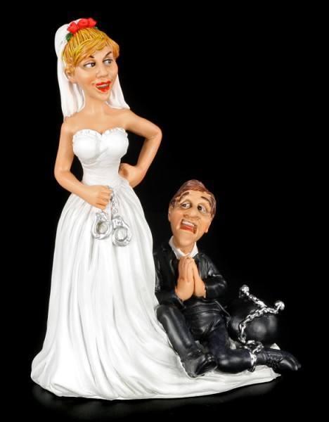 Lebenslänglich - Lustige Brautpaar Figur