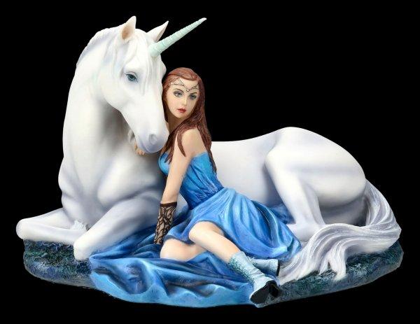 Unicorn Figurine - Blue Moon by Anne Stokes