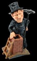 Funny Job Figurine - Chimney Sweeper on Roof