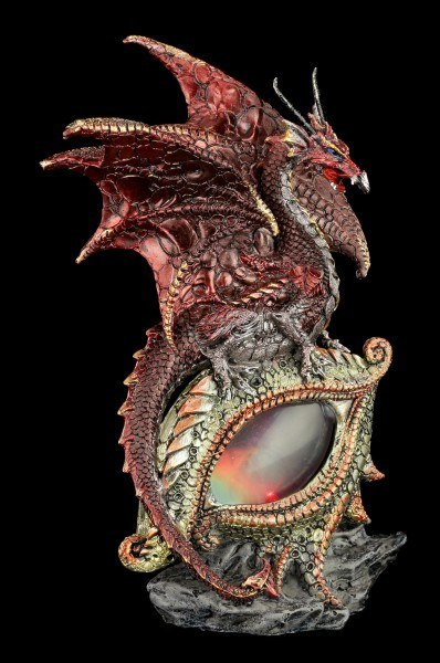 Dragon Figurine with LED - Eye of the Dragon - Red