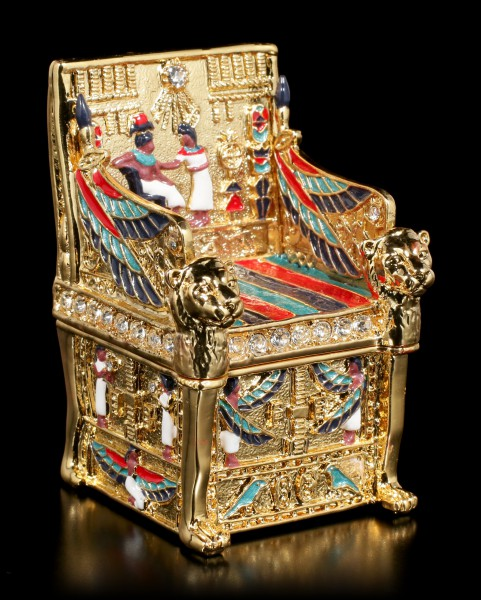 Small Egyptian Box - Throne gold colored
