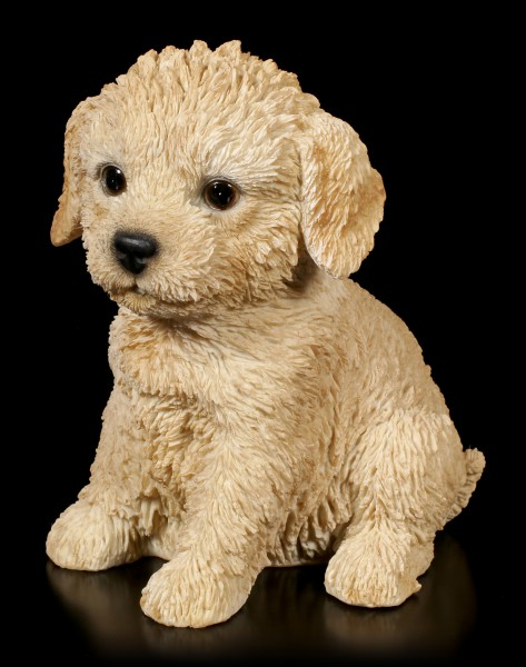 Dog Puppy Figurine - Labradoodle