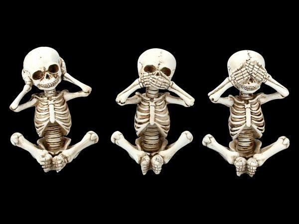 Skellywag Figurines - No Evil
