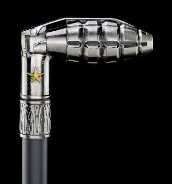 Spazierstock - Handgranaten Griff - Metall