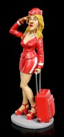Funny Jobs Figurine - Stewardess with Suitcase