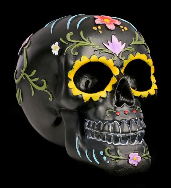 Schwarzer Totenkopf - Floral Festivities