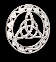 Wall Ornament - Triquetra Wood white
