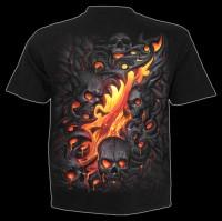 Spiral Gothic T-Shirt - Lava Skull