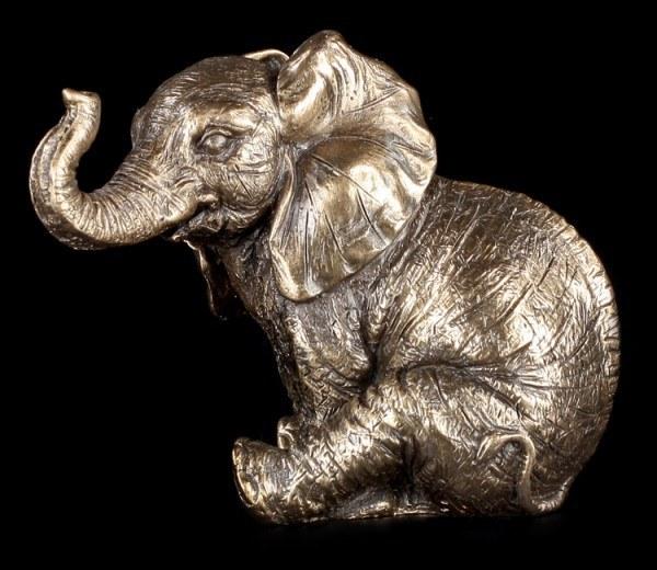 Kleine sitzende Elefanten Figur - Nelly
