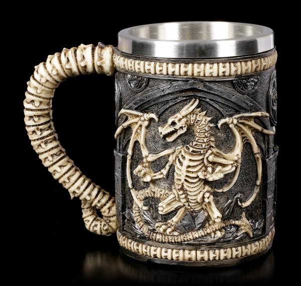 Drachen Krug - Skeleton Dragon
