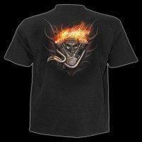 T-Shirt - Skelett auf Motorrad - Wheels of Fire