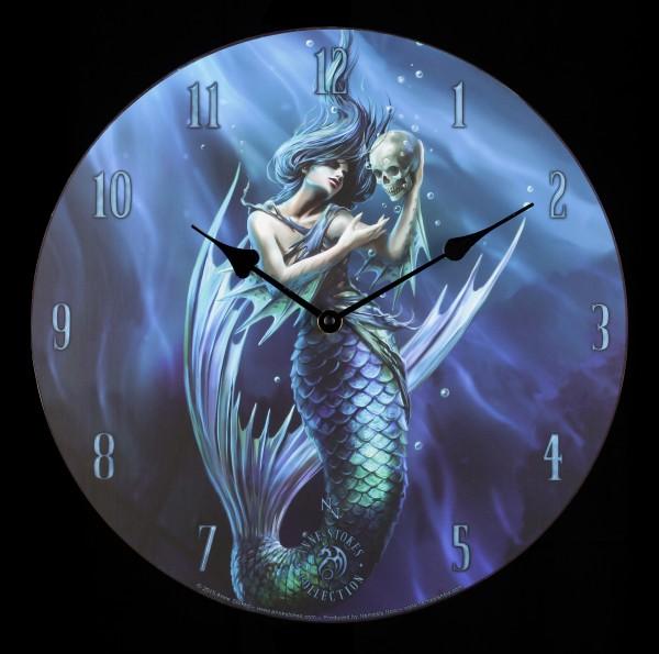 Wanduhr mit Meerjungfrau - Sailors Ruin by Anne Stokes