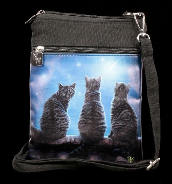 Kleine Schultertasche mit Katzen - Wish Upon a Star
