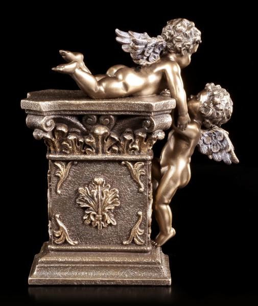 Table Clock - Two Cherub Angels
