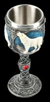 Fantasy Goblet - Howling Lone Wolf white
