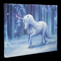 Small Canvas with Unicorn - Winter Wonderland