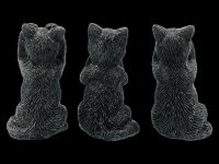 Black Cat Figurines - No Evil - Felines