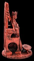 Celtic Goddess Figurine - Queen Maeve - red