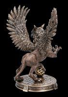 Griffin Figurine on Round Base