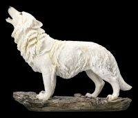 Winter Wolf Figurine - White and Howling