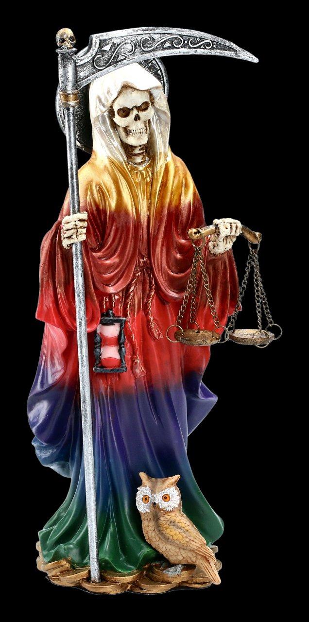 Santa Muerte Figurine - Rainbow colored