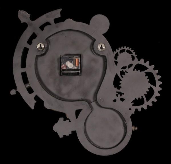 Astronomische Steampunk Wanduhr