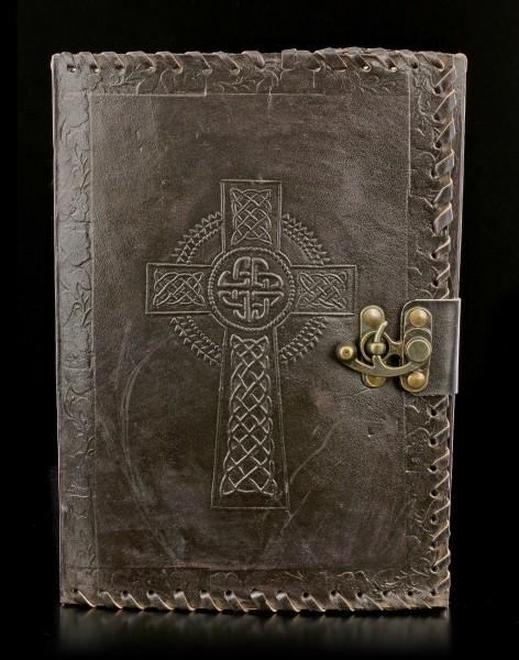 Leder Notizbuch mit keltischem Kreuz