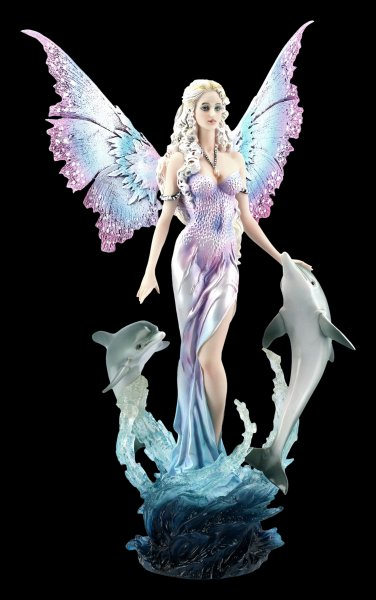 Fairy Figurine with Dolphins - Delphinia