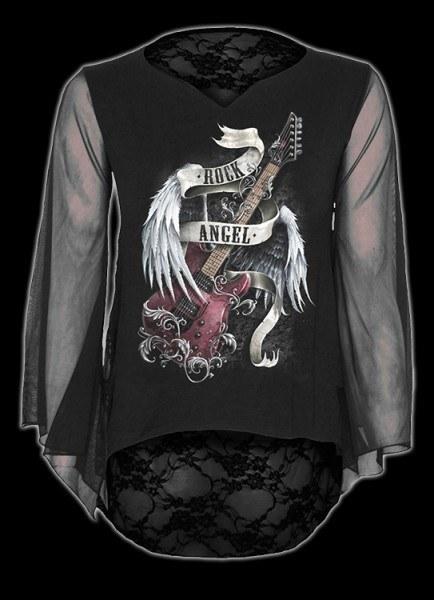 Netz Langarmshirt - Rock Angel
