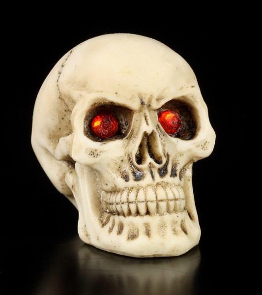 Totenkopf mit roten Augen - 2er Set