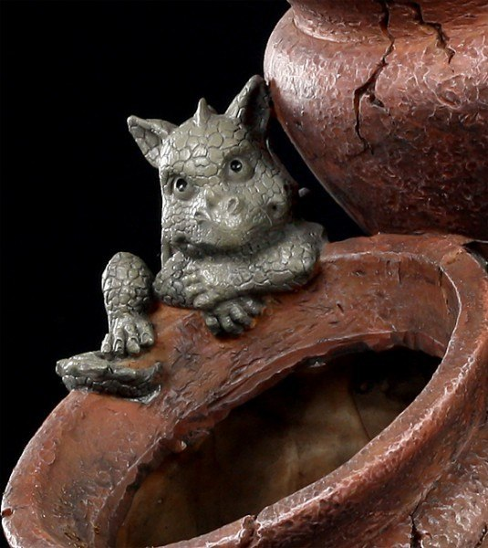 Garden Figurine - Tree Dragons with Plant Pot