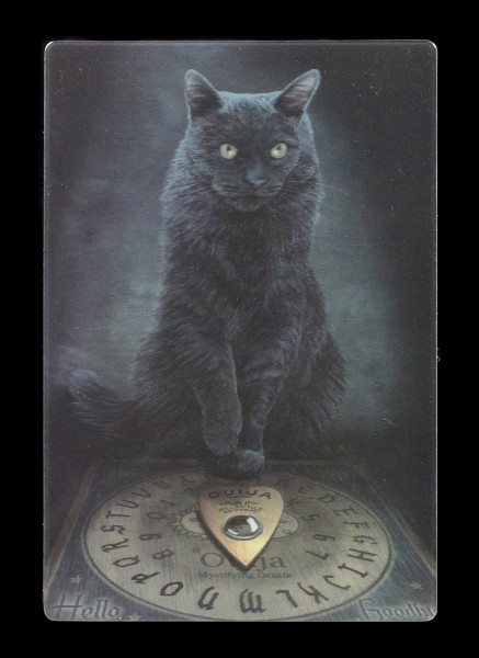 3D Postcard with Cat - His Master's Voice