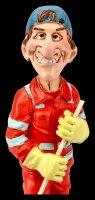 Funny Job Figur - Straßenkehrer mit Besen