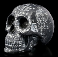 Skull with Mystic Ornaments - black