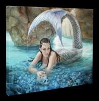 Kleine Leinwand mit Meerjungfrau - Hidden Depths