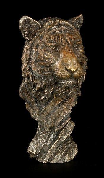 Tiger Figur - Tigerkopf auf Fels
